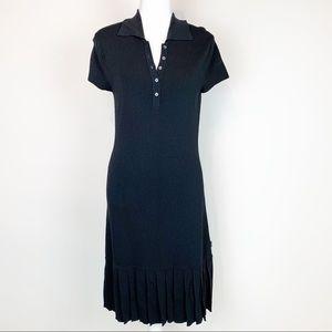 BCBG women size M pleated polo sweater Dress